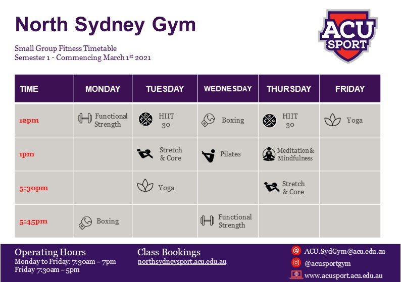 NSyd Gym Timetable Mar 2021